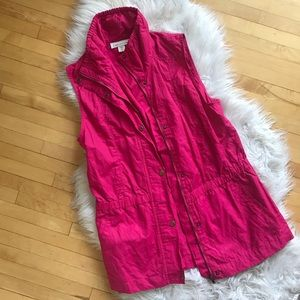 Coldwater creek hot pink vest